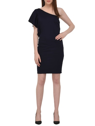 single shoulder sheath dress - 15727287 - Standard Image - 4