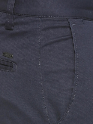 blue cotton blend chinos - 15727650 - Standard Image - 4