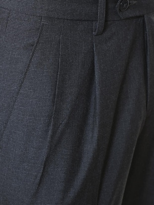grey polyester blend pleated formal trouser - 15727795 - Standard Image - 4