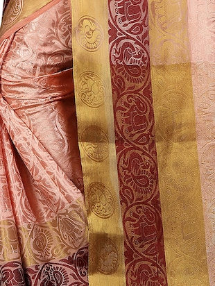 conversational zari motif banarasi saree with blouse - 15728876 - Standard Image - 4