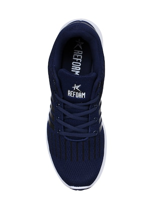 navy Fabric sport shoes - 15729385 - Standard Image - 4
