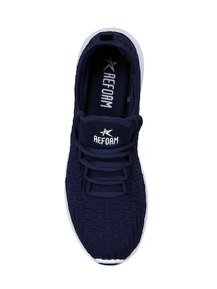 navy Fabric sport shoes - 15729389 - Standard Image - 4