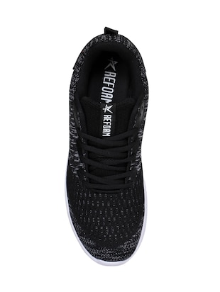 black Fabric sport shoes - 15729395 - Standard Image - 4