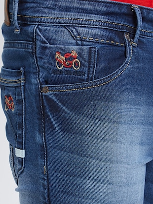 blue denim washed jeans - 15729563 - Standard Image - 4