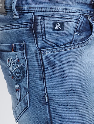 blue denim washed jeans - 15729565 - Standard Image - 4