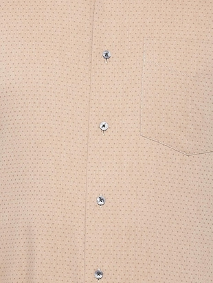 brown cotton formal shirt - 15729859 - Standard Image - 4