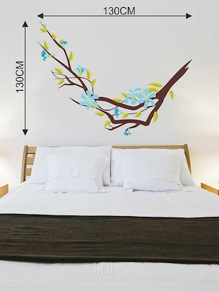 Wall Decals ' Blue Flower Sticker '  Wall stickers (PVC Vinyl) - 15730242 - Standard Image - 4