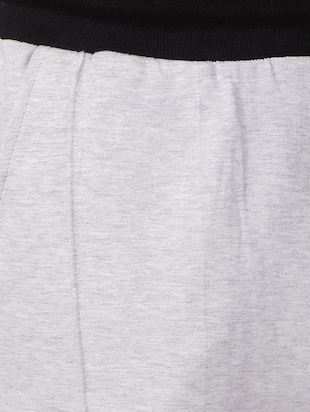 grey cotton blend shorts - 15730848 - Standard Image - 4