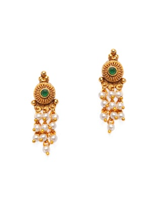 Gold Tone Necklace & Earrings Set - 15731236 - Standard Image - 4
