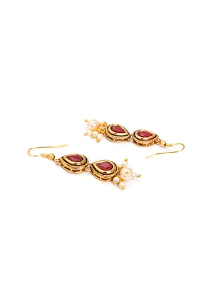 Gold Tone Necklace & Earrings Set - 15731242 - Standard Image - 4