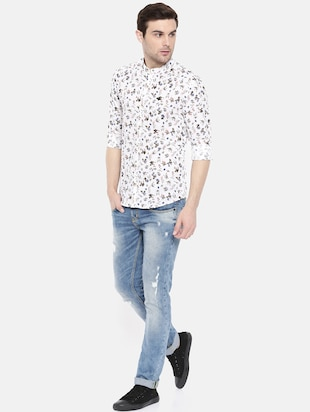 white cotton casual shirt - 15731558 - Standard Image - 4