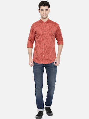 red cotton casual shirt - 15731561 - Standard Image - 4