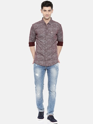 red cotton casual shirt - 15731569 - Standard Image - 4
