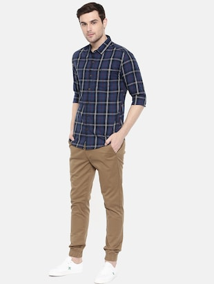 blue cotton casual shirt - 15731585 - Standard Image - 4