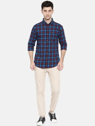 blue cotton casual shirt - 15731589 - Standard Image - 4