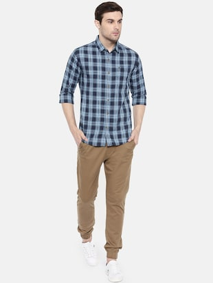 blue cotton casual shirt - 15731592 - Standard Image - 4