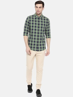 blue cotton casual shirt - 15731593 - Standard Image - 4