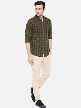 green cotton casual shirt - 15731600 - Standard Image - 4