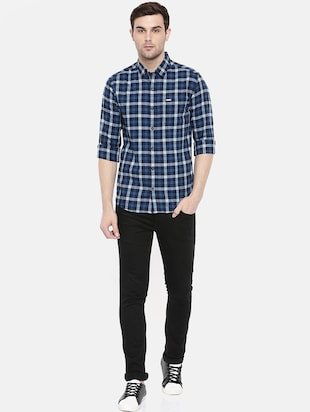 blue cotton casual shirt - 15731623 - Standard Image - 4