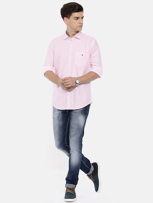 pink cotton casual shirt - 15731804 - Standard Image - 4
