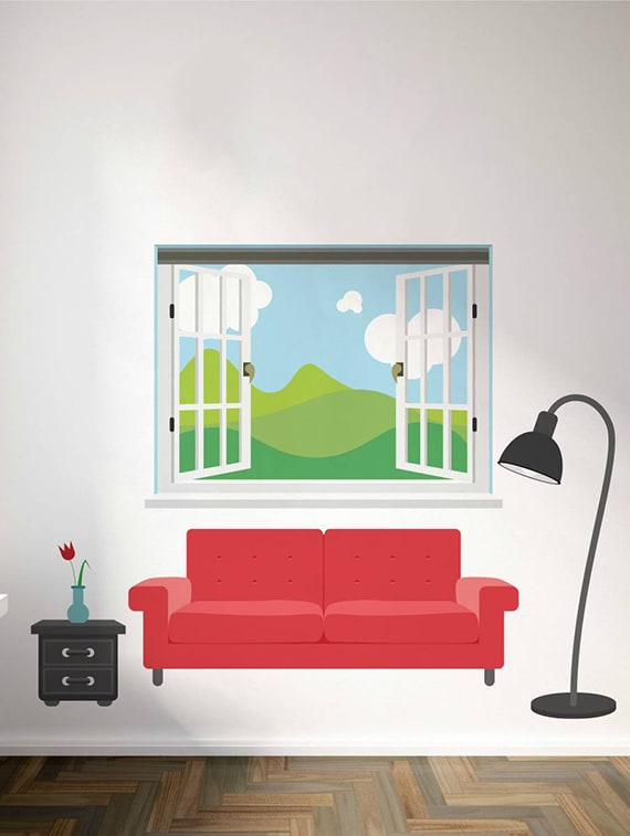 buy rawpockets wall decals ' living room set ' wall stickers (pvc