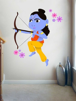 Rawpockets Wall Decals ' Hindu God Lord Ram '  Wall stickers (PVC Vinyl) Multicolour - 15733870 - Standard Image - 4