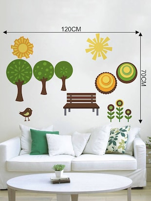 Rawpockets Wall Decals ' Natural Park '  Wall stickers (PVC Vinyl) Multicolour - 15733928 - Standard Image - 4