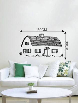 Rawpockets Wall Decals ' Beautiful Village House  '  Wall stickers (PVC Vinyl) Multicolour - 15733933 - Standard Image - 4