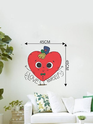 Rawpockets Wall Decals ' Love Yourself Funny Typography '  Wall stickers (PVC Vinyl) Multicolour - 15733935 - Standard Image - 4