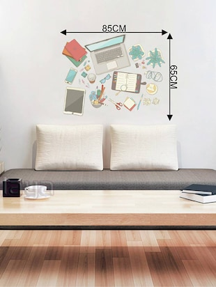 Rawpockets Wall Decals ' Today's Modern Gadgets '  Wall stickers (PVC Vinyl) Multicolour - 15734045 - Standard Image - 4