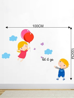 Rawpockets Wall Decals ' Let it go Cartoon - Kid's Room '  Wall stickers (PVC Vinyl) Multicolour - 15734046 - Standard Image - 4