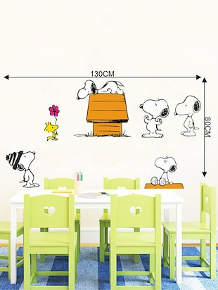 Rawpockets Wall Decals ' Snoopy Dog Story - Kid's Room '  Wall stickers (PVC Vinyl) Multicolour - 15734062 - Standard Image - 4