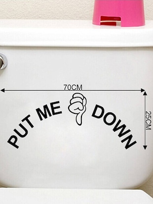 Rawpockets Wall Decals ' Put me Down - Toilet  '  Wall stickers (PVC Vinyl) Multicolour - 15734070 - Standard Image - 4