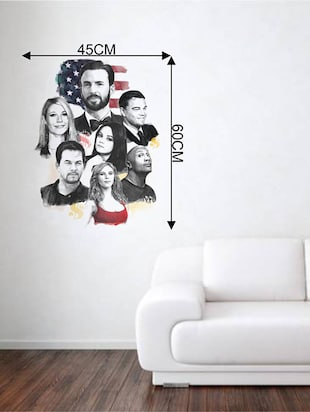 Rawpockets Wall Decals ' Hollywood Movie Stars '  Wall stickers (PVC Vinyl) Multicolour - 15734118 - Standard Image - 4