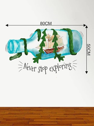 Rawpockets Wall Decals ' Never Stop Exploring '  Wall stickers (PVC Vinyl) Multicolour - 15734169 - Standard Image - 4