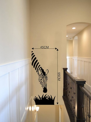 Rawpockets Wall Decals ' Zebra? '  Wall stickers (PVC Vinyl) Multicolour - 15734210 - Standard Image - 4