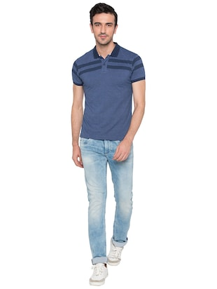 blue cotton polo t-shirt - 15735246 - Standard Image - 4