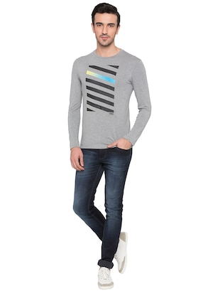 grey viscose t-shirt - 15735269 - Standard Image - 4
