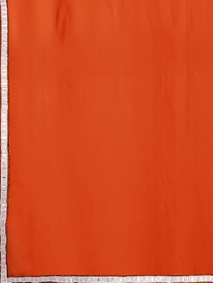 lace border orange saree with blouse - 15735292 - Standard Image - 4