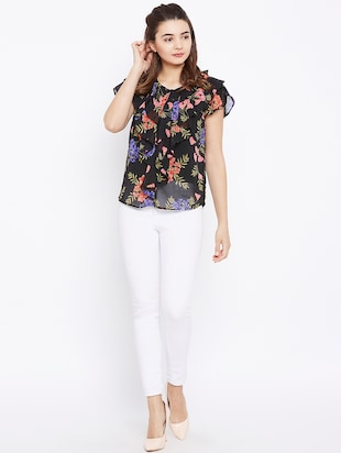 floral ruffled top - 15735885 - Standard Image - 4
