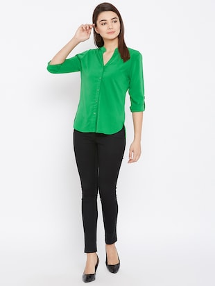 mandarin neck full sleeved shirt - 15735936 - Standard Image - 4