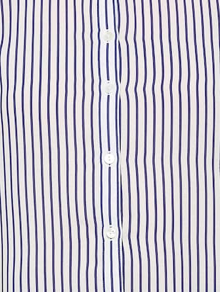 curved hem striped shirt - 15736820 - Standard Image - 4