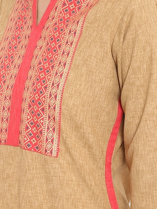 Patch work straight kurta - 15737044 - Standard Image - 4