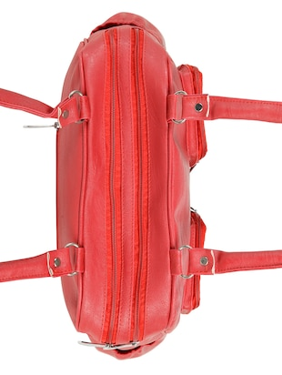 red leatherette (pu) regular handbag - 15737058 - Standard Image - 4