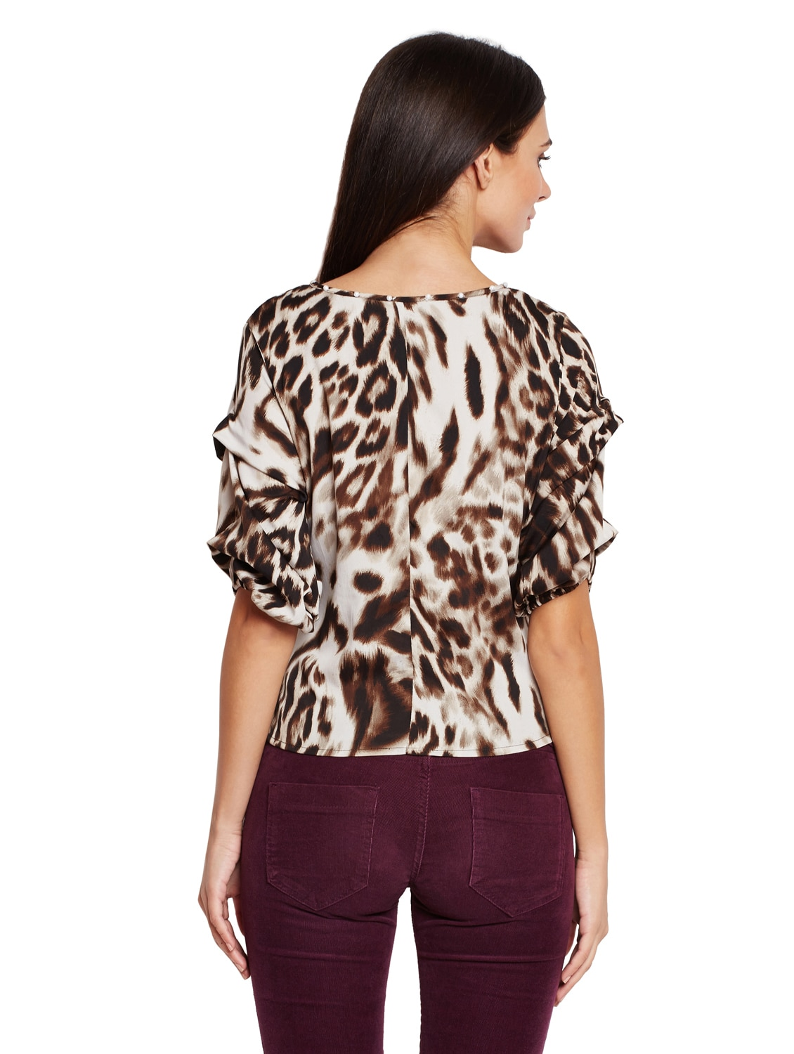3dced6695782ea Buy Tie Up Front Animal Print Top for Women from Oxolloxo for ₹623 at 52%  off