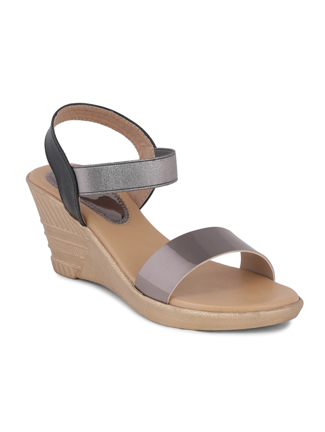 a887a9c55b96 Buy Grey Back Strap Wedges for Women from Sindhi Footwear for ₹521 at 35%  off