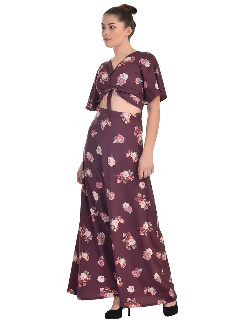 Buy Floral Crop Top Maxi Skirt Set by Classic 18 - Online shopping for Sets  in India  83fb0cb9aab3
