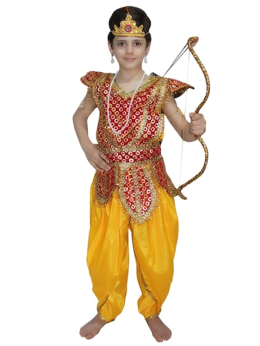 Buy Multi Colored Polyester Mythological Costume By Kaku Fancy