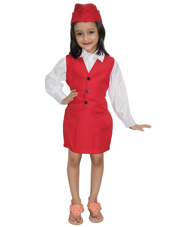 1e76da425f2 red polyester air hostess costume