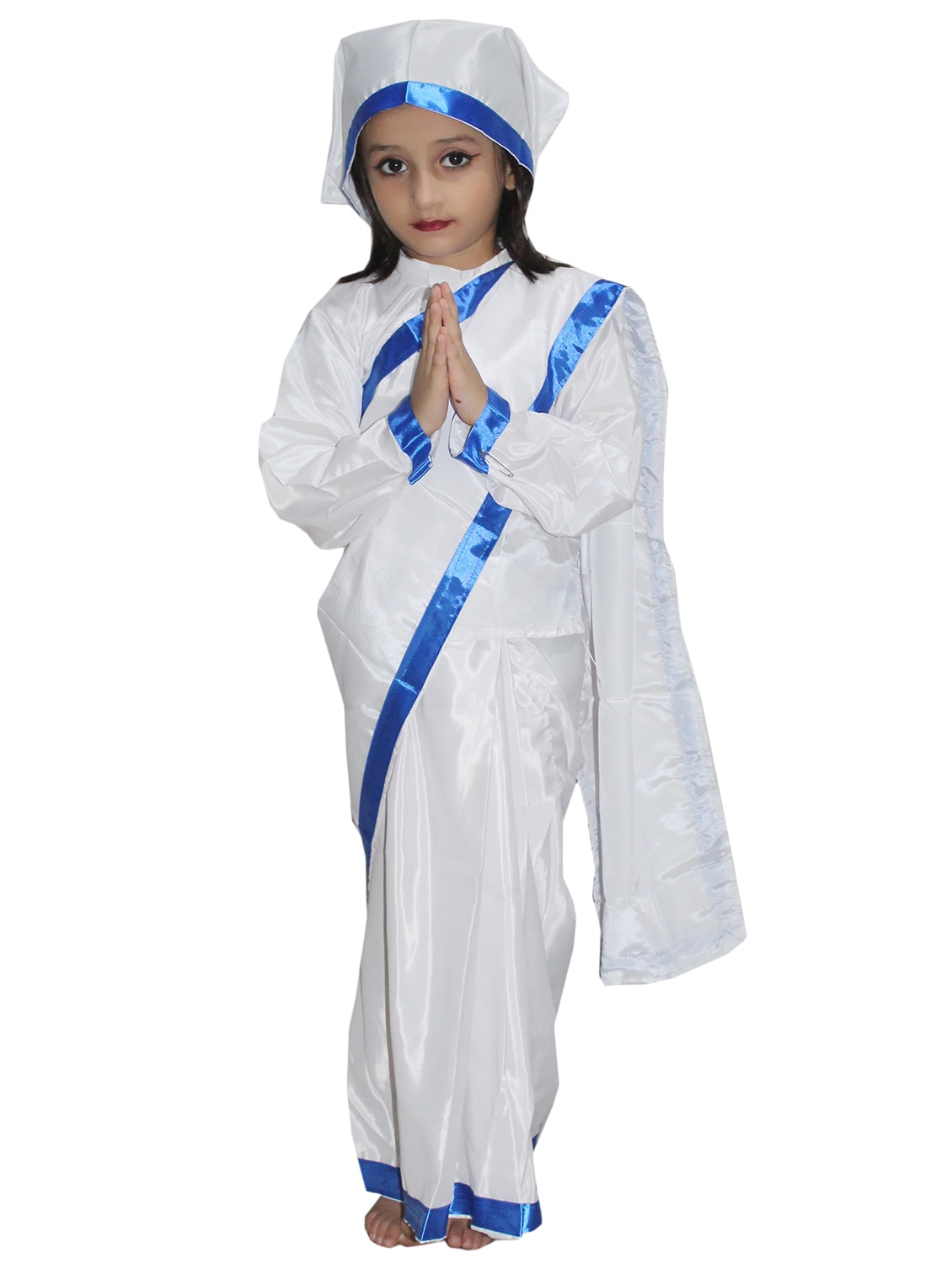 099343efeae6d White Polyester Mother Teresa Costume